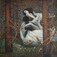 Сквозь колючие ветви тайги, серебристым дыханием осени, проплывает украдкой туман